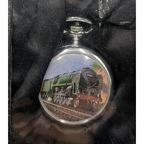 701 - GLORY OF STEAM POCKET WATCH  (Boxed)...