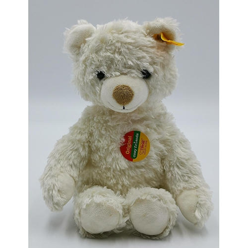 710 - STEIFF 26cm WHITE BEAR (Complete With Button In Ear And Labels)...