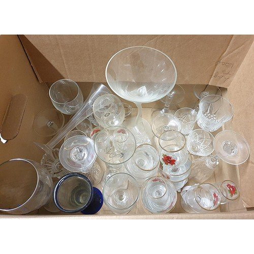 23 - BOX CONTAINING A Large Qty Of GLASS WARE. (Please Note That This Lot WILL NOT BE PACKED OR SHIPPED ....