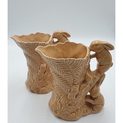 28 - SYLVAC Large 21cm JUGS (2) (One With Hairline Crack)...