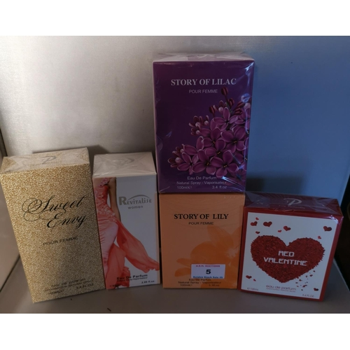 5 - ASSORTED PERFUMES (5) (All Boxed)