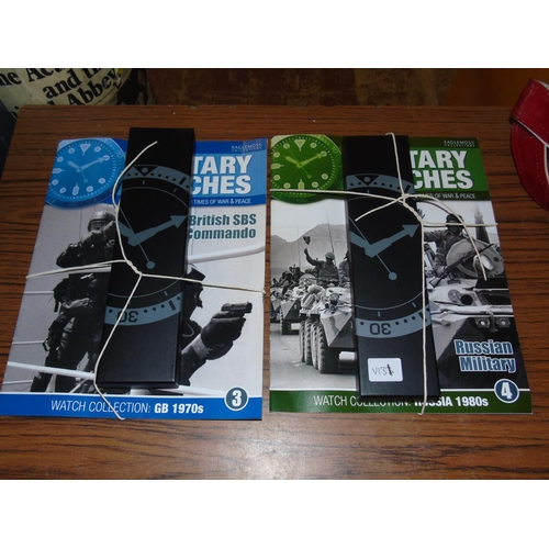 15 - Two collectable military magazines with collectors watches...