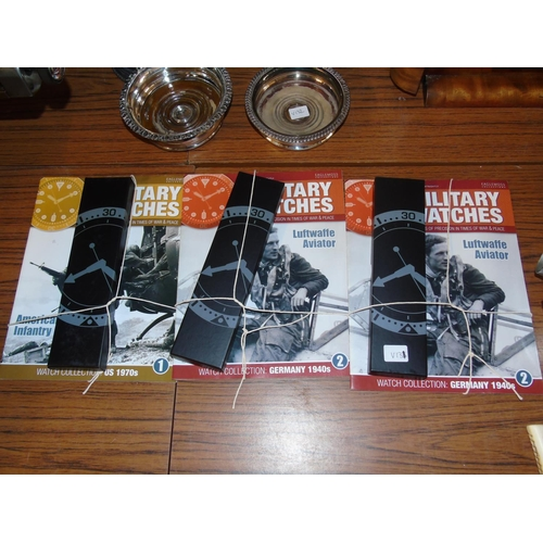 6 - Three collectable military magazines with collectors watches...