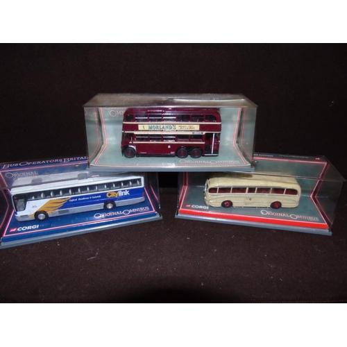 26 - Three limited edition Corgi buses 43714 - 40301 - 43301...
