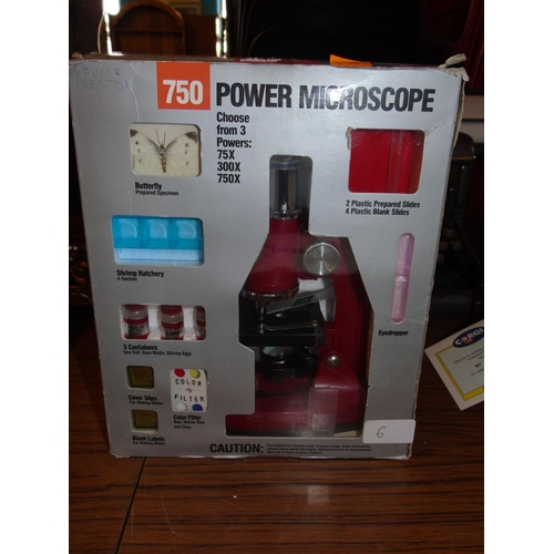 6 - A boxed Power microscope....