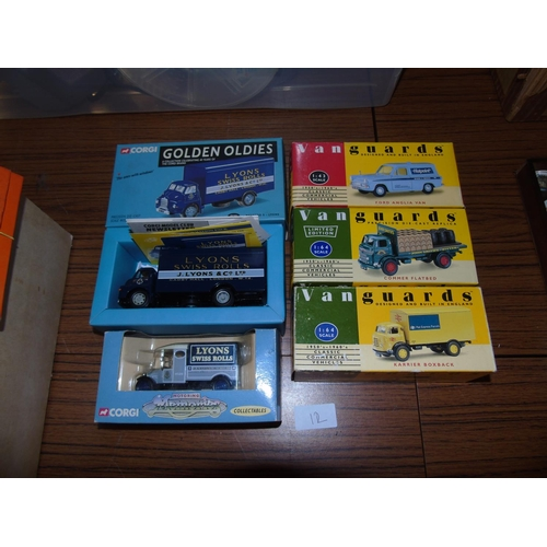 12 - A good selection of boxed vintage die-cast models...