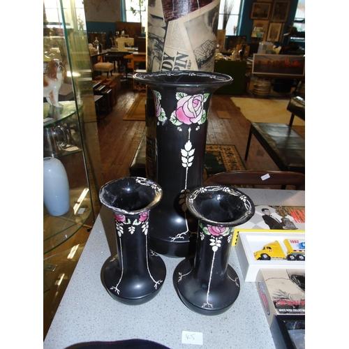 45 - A trio of classic Shelley ceramics A/F...