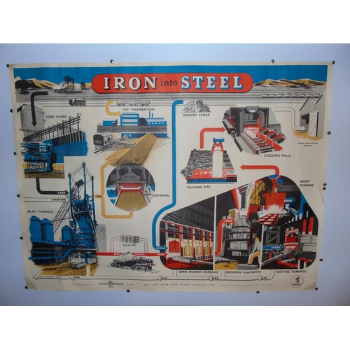 50 - A 1950's British Iron & Steel Federation poster....