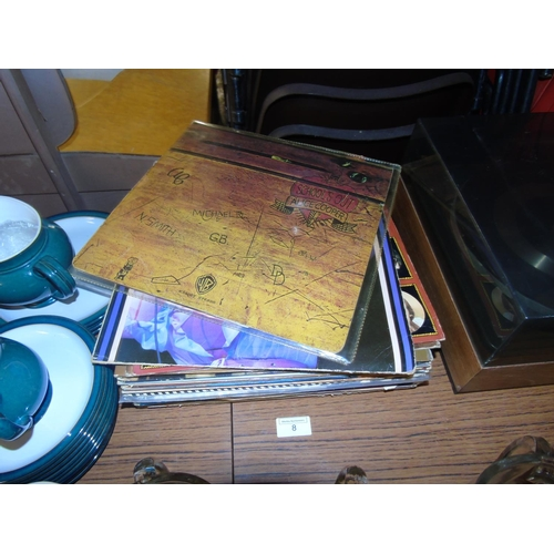 8 - A collection of LP records including Alice Cooper