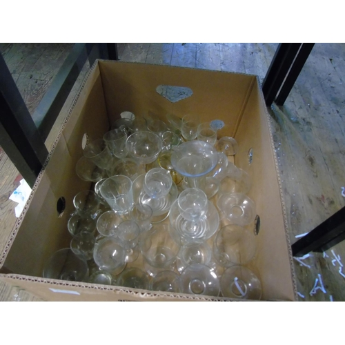 20 - A large box of vintage glass ware....
