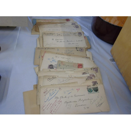 38 - A collection of ephemera etc. (Old British stamps etc)...