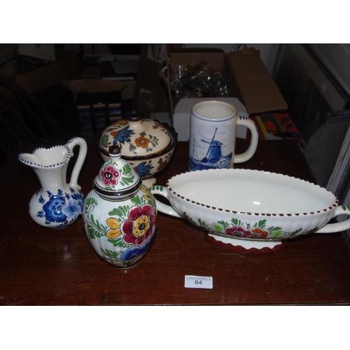 17 - A good selection of vintage Dutch pottery Delpft & Gouda etc....