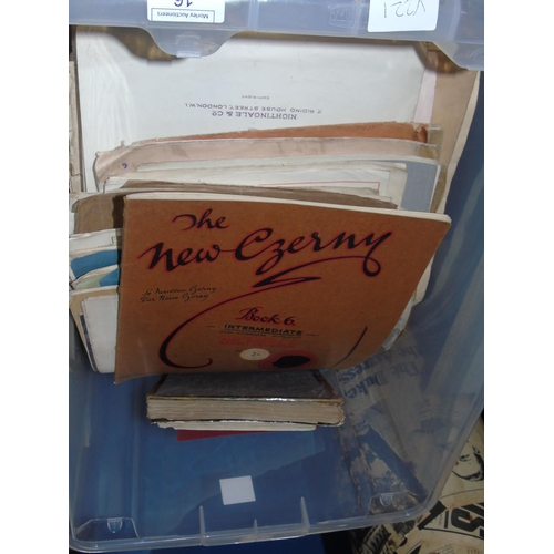 14 - A large selection of vintage sheet music...