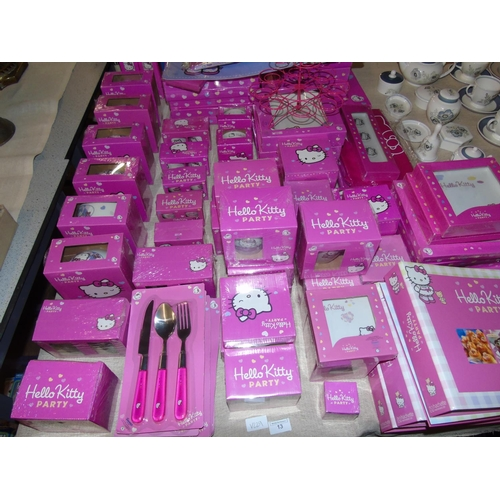 13 - A huge selection of new 'Hello Kitty' items 93 pieces in total....