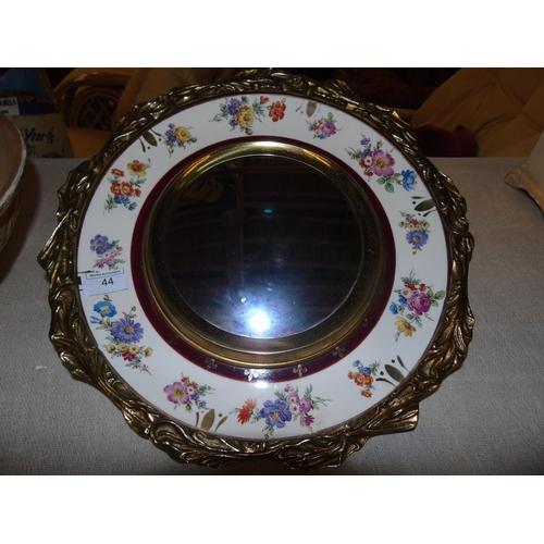 44 - A rare and unusual Crown Devon mirror. 37cm in dia....