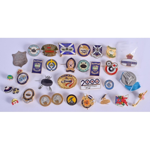 767 - ASSORTED SPORTING BADGES. (qty)...