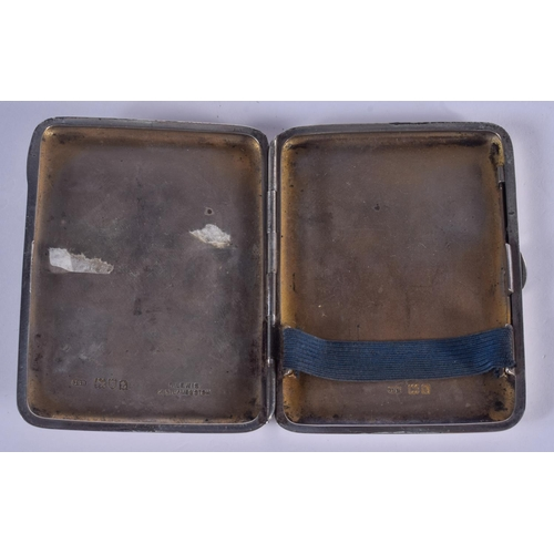 1002 - A SILVER EROTIC CASE. London 1914. 88 grams. 8 cm x 6 cm....