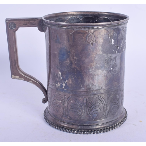 1093 - AN AMERICAN SILVER CHRISTENING MUG. 133 grams. 9 cm high....