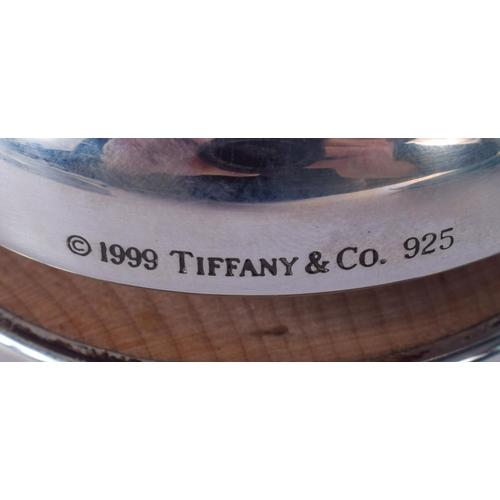1096 - A VERY UNUSUAL TIFFANY & CO SILVER YOYO. 5.5 cm diameter....