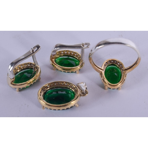 1223 - A SILVER CZ RING etc. (4)...