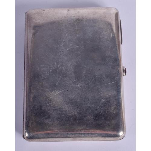 1260 - AN ANTIQUE RUSSIAN SILVER CIGARETTE CASE. 200 grams. 12 cm x 8.5 cm....