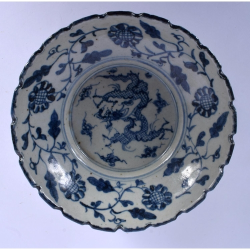 1576 - A CHINESE BLUE AND WHITE PORCELAIN BOWL 20th Century. 19 cm wide....