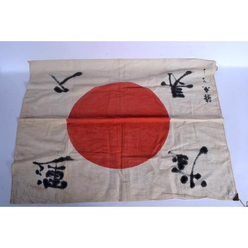 1679 - A JAPANESE WWII FLAG. 84 cm x 72 cm....