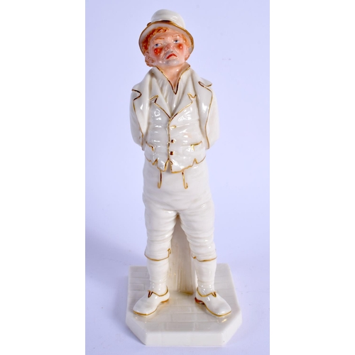 173 - Royal Worcester figure of the Irishman in gold and white with coloured face, date code 1886. 17cm hi...