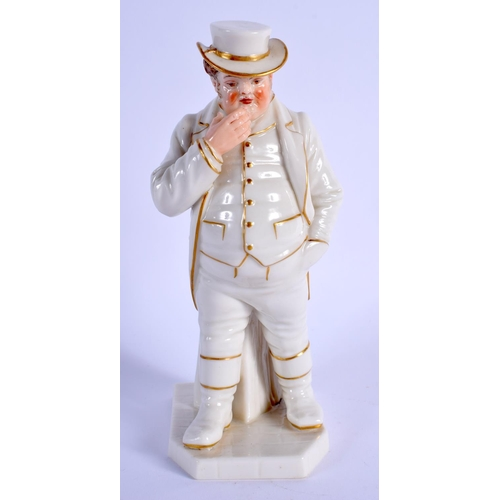 174 - Royal Worcester figure of the Englishman decorated with gold and white with coloured face, date code...