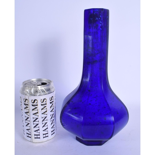 1762 - A 19TH CENTURY CHINESE BEIJING GLASS VASE Qing. 24 cm high....