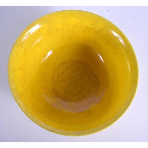 1774 - A CHINESE YELLOW GLAZED PORCELAIN DRAGON BOWL 20th Century. 14 cm diameter....