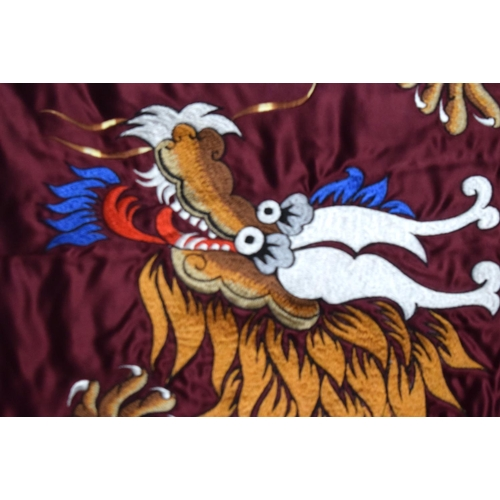 1863 - AN EARLY 20TH CENTURY CHINESE SILK WORK DRAGON PANEL Late Qing. 60 cm x 78 cm....