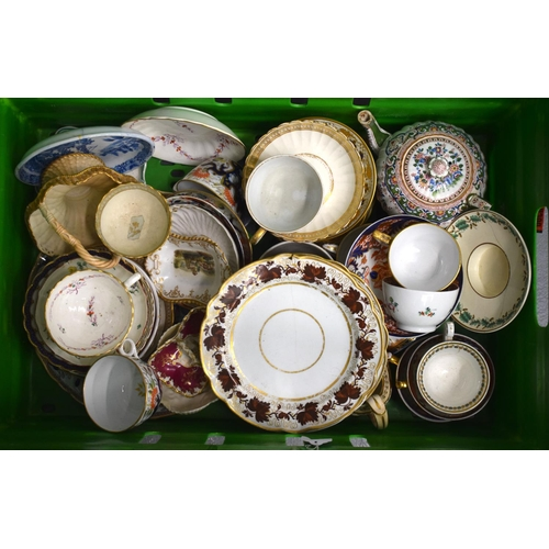 191 - Large quantity of late 18th  and early 19th c. English porcelain including Coalport, Flight Worceste...
