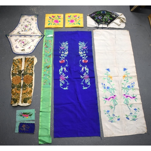 1925 - ASSORTED CHINESE & JAPANESE SILKS. (qty)...