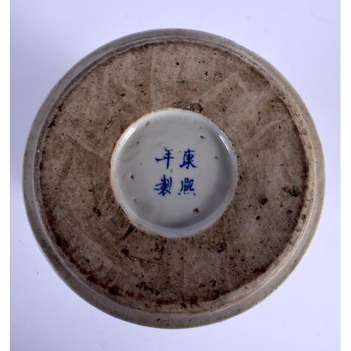 2075 - A CHINESE FAMILLE VERTE VASE 20th Century. 20 cm x 14 cm....