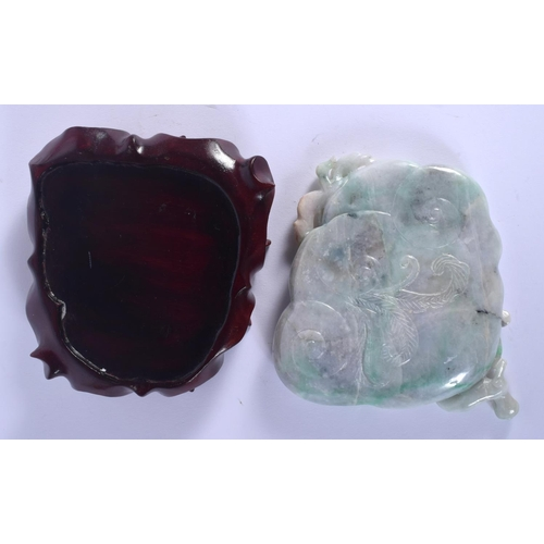 2086 - AN EARLY 20TH CENTURY CHINESE CARVED JADEITE BRUSH WASHER Late Qing/Republic, carved with chilong. 1...