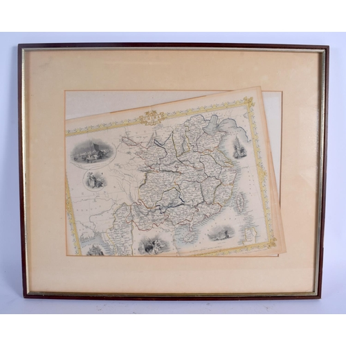 2148 - A 19TH CENTURY MAP OF CHINA AND BURMA engraved by J Rapkin. Map 34 cm x 24 cm....