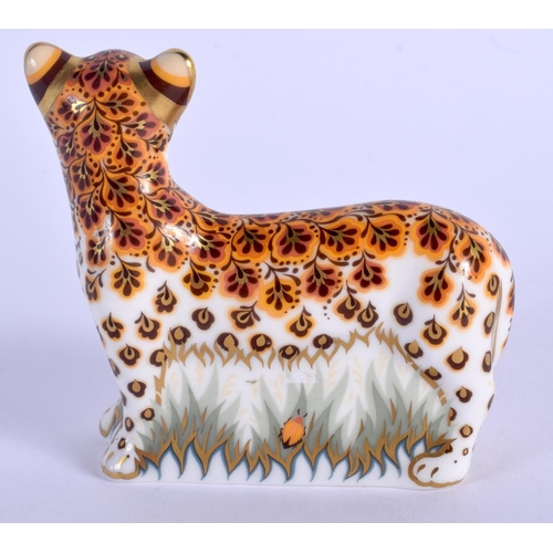 223 - Royal Crown Derby paperweight Leopard Cub. 8cm wide....