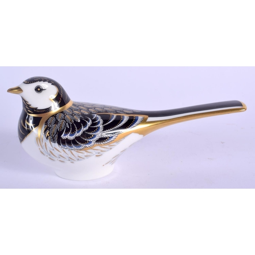 245 - Royal Crown Derby paperweight Pied Wagtail. 14.5cm wide....