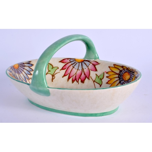 254 - AN UNUSUAL ART DECO CHARLOTTE RHEAD BASKET. 13 cm wide....