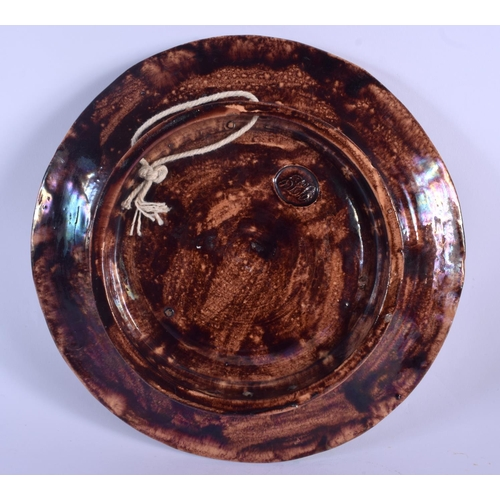 261 - A 19TH CENTURY PORTUGUESE MAJOLICA POTTERY PALISSY TYPE DISH overlaid with lizards and snakes. 21 cm...