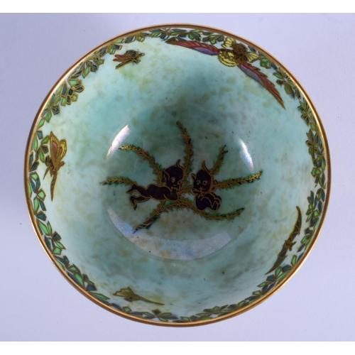 284 - A WEDGWOOD FAIRYLAND LUSTRE PORCELAIN BOWL by Daisy Makeig Jones. 8.5 cm diameter....