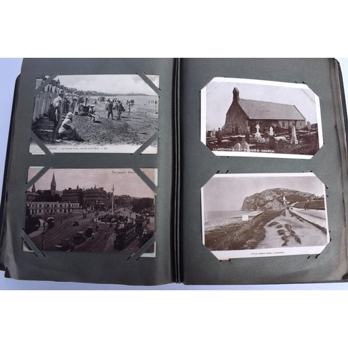 376 - A POSTCARD ALBUM formed with various cards. (qty)...