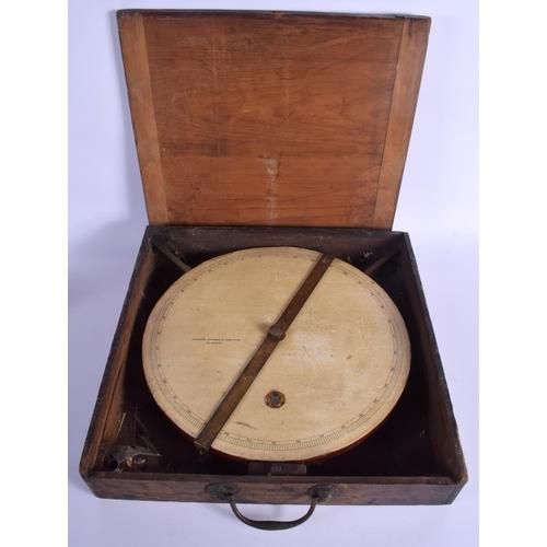 382 - A LARGE ANTIQUE SCOTTISH CASED THOMAS SKINNER & HAMILTON INSTRUMENT. 35 cm diameter....