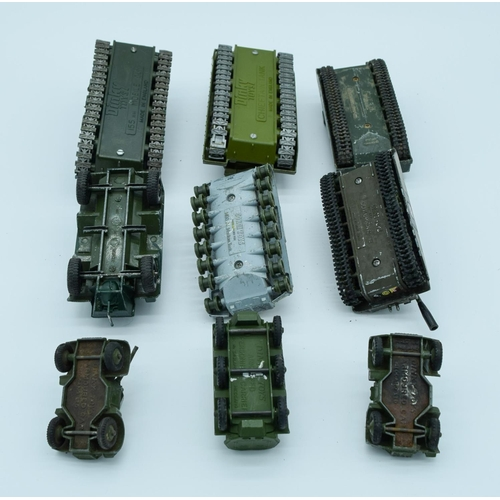 4001 - Collection of Vintage Dinky military model Tanks. (qty)...