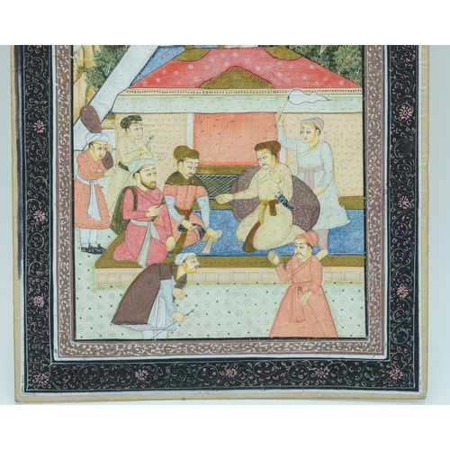 4007 - Indian Gouache painting 20 x 26.5cm....