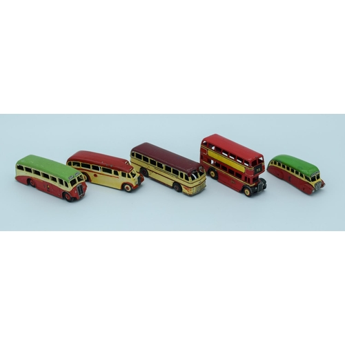 4014 - Collection of vintage Dinky  model buses/coaches . (5)...