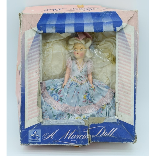 4016 - A Vintage teddy and a boxed Marcie Doll 23cm. (2)...