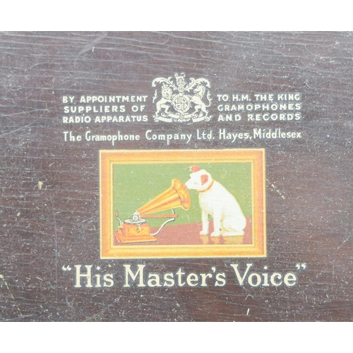 4017 - A vintage Bush radio together with a His masters voice radiogram largest 32 x 50cm .(2)...