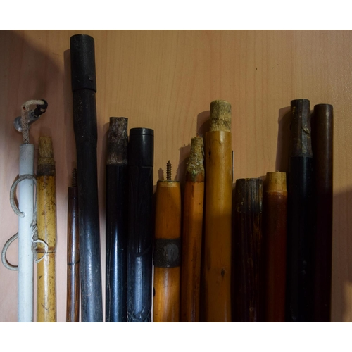 4030 - Collection of walking sticks without handles.  96cm (13)....